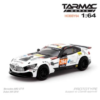 2月入荷 Tarmac Works 1/64 HOBBY64 Model Car - Mercedes-AMG GT4 Dubai 24H 2018