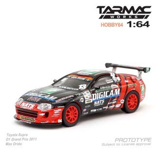 <img class='new_mark_img1' src='https://img.shop-pro.jp/img/new/icons1.gif' style='border:none;display:inline;margin:0px;padding:0px;width:auto;' />2月入荷 Tarmac Works 1/64 HOBBY64 -Toyota Supra D1 Grand Prix 2011 Max Orido