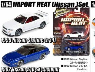 <img class='new_mark_img1' src='https://img.shop-pro.jp/img/new/icons1.gif' style='border:none;display:inline;margin:0px;padding:0px;width:auto;' />ジョニーライトニング 1/64  IMPORT HEAT(Nissan)Set  2パック スペシャル