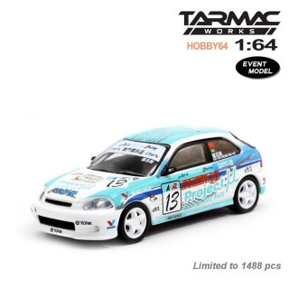 <img class='new_mark_img1' src='https://img.shop-pro.jp/img/new/icons1.gif' style='border:none;display:inline;margin:0px;padding:0px;width:auto;' />Tarmac Works 1/64 Honda Civic Type R EK9 Macau CTM Cup 2003 Ao Chi Hong 限定モデル