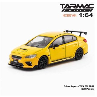 <img class='new_mark_img1' src='https://img.shop-pro.jp/img/new/icons1.gif' style='border:none;display:inline;margin:0px;padding:0px;width:auto;' />Tarmac Works 1/64 Subaru Impreza WRX STI S207 NBR Package Yellow