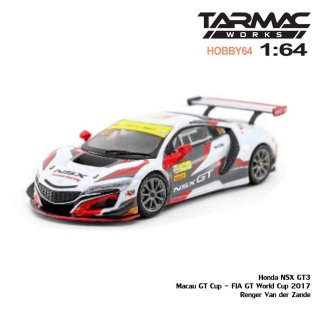 <img class='new_mark_img1' src='https://img.shop-pro.jp/img/new/icons1.gif' style='border:none;display:inline;margin:0px;padding:0px;width:auto;' />4月予約 Tarmac Works 1/64 Honda NSX GT3 Macau GT Cup - FIA GT World Cup 2017 Renger Van der Zande