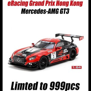 <img class='new_mark_img1' src='https://img.shop-pro.jp/img/new/icons1.gif' style='border:none;display:inline;margin:0px;padding:0px;width:auto;' />Tarmac Works 1/64 Mercedes AMG GT3 eRacing Grand Prix 香港限定品