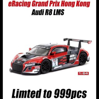 <img class='new_mark_img1' src='https://img.shop-pro.jp/img/new/icons1.gif' style='border:none;display:inline;margin:0px;padding:0px;width:auto;' />Tarmac Works 1/64 Audi R8 LMS eRacing Grand Prix 香港限定品