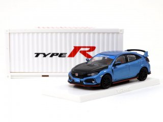 <img class='new_mark_img1' src='https://img.shop-pro.jp/img/new/icons1.gif' style='border:none;display:inline;margin:0px;padding:0px;width:auto;' />Tarmac Works 1/64 HONDA CIVIC TYPE R FK8 Blue with Black Bonnet Tuned By SPOON 香港限定モデル