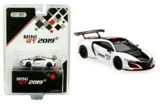 <img class='new_mark_img1' src='https://img.shop-pro.jp/img/new/icons1.gif' style='border:none;display:inline;margin:0px;padding:0px;width:auto;' />TSM MINI GT 1/64 Acura NSX GT3 Racing 2019 Toy Fair 2019 (左ハンドル)