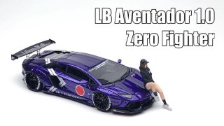 <img class='new_mark_img1' src='https://img.shop-pro.jp/img/new/icons1.gif' style='border:none;display:inline;margin:0px;padding:0px;width:auto;' />JEC 1/64 LB Works Lamborghini Aventador 1.0 Zero Fighter パープル 限定499台