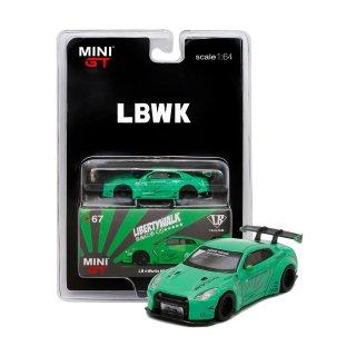 <img class='new_mark_img1' src='https://img.shop-pro.jp/img/new/icons1.gif' style='border:none;display:inline;margin:0px;padding:0px;width:auto;' />LBWK 1/64 Nissan GT-R R35 タイプ1  リアウイング キャンディグリーン RHD(右ハンドル)