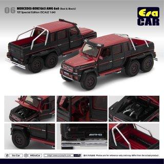 Era CAR 1/64 Mercedes-Benz G63 AMG 6x6 レッド&ブラック 初回特別版