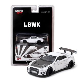 <img class='new_mark_img1' src='https://img.shop-pro.jp/img/new/icons1.gif' style='border:none;display:inline;margin:0px;padding:0px;width:auto;' />MINI GT LBWK 1/64 Nissan GT-R R35 タイプ2 ホワイト RHD(右ハンドル)LBWK ブリスター仕様(定形外郵便選択可)