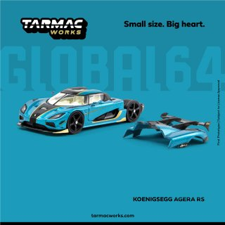 <img class='new_mark_img1' src='https://img.shop-pro.jp/img/new/icons1.gif' style='border:none;display:inline;margin:0px;padding:0px;width:auto;' />Tarmac Works GLOBAL64 1/64 Koenigsegg Agera RS Ocean Blue