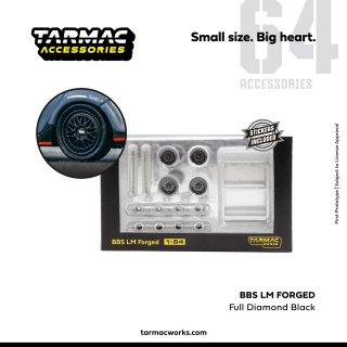 Tarmac Works 1/64 BBS LM Set Forged Full Diamond Black