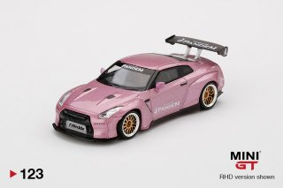 <img class='new_mark_img1' src='https://img.shop-pro.jp/img/new/icons1.gif' style='border:none;display:inline;margin:0px;padding:0px;width:auto;' />MINI GT 1/64 Pandem Nissan GT-R R35 GT Wing Passion Pink 左ハンドル