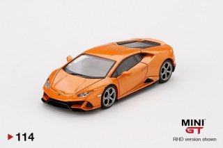<img class='new_mark_img1' src='https://img.shop-pro.jp/img/new/icons1.gif' style='border:none;display:inline;margin:0px;padding:0px;width:auto;' />MINI GT 1/64 ランボルギーニ ウラカン EVO Arancio Borealis 左ハンドル