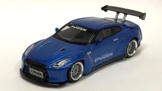 <img class='new_mark_img1' src='https://img.shop-pro.jp/img/new/icons1.gif' style='border:none;display:inline;margin:0px;padding:0px;width:auto;' />MINI GT 1/64 Pandem Nissan GT-R R35 GT Wing Metallic Blue 右ハンドル