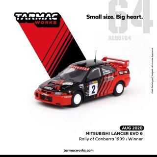 10月以降予約 Tarmac Works 1/64 三菱 ランサー EVO6 1999 キャンベララリー優勝