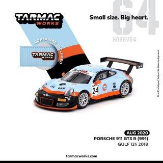 10月以降予約 Tarmac Works 1/64 ポルシェ 911 GT3 R 991 GULF 12H 2018