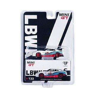 <img class='new_mark_img1' src='https://img.shop-pro.jp/img/new/icons1.gif' style='border:none;display:inline;margin:0px;padding:0px;width:auto;' />MINI GT 1/64  LB WORKS NISSAN GT-R R35 Martini Racing 右ハンドル LBWKブリスター仕様(定形外郵便選択可)