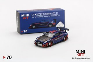 <img class='new_mark_img1' src='https://img.shop-pro.jp/img/new/icons1.gif' style='border:none;display:inline;margin:0px;padding:0px;width:auto;' />MINI GT 1/64 LB WORKS NISSAN GT-R Type2 Rear Wing Ver3 R35 InterSPORT 40週年 インドネシア限定