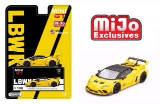 <img class='new_mark_img1' src='https://img.shop-pro.jp/img/new/icons1.gif' style='border:none;display:inline;margin:0px;padding:0px;width:auto;' />7月以降予約 Mijo限定 MINI GT 1/64 LB★WORKS Lamborghini Huracan GT イエロー 左ハンドル(LHD)