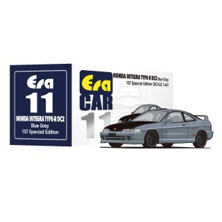 6月以降予約 Era CAR 1/64 ホンダ インテグラ DC2 タイプR 1ST Special Edition ブルーグレー