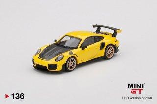 <img class='new_mark_img1' src='https://img.shop-pro.jp/img/new/icons1.gif' style='border:none;display:inline;margin:0px;padding:0px;width:auto;' />9月以降予約 MINI GT 1/64 Porsche 911 GT2 RS Racing Yellow  LHD(左ハンドル)