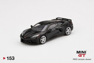 <img class='new_mark_img1' src='https://img.shop-pro.jp/img/new/icons1.gif' style='border:none;display:inline;margin:0px;padding:0px;width:auto;' />9月以降予約 MINI GT 1/64 Chevrolet Corvette Stingray 2020 Black w/ Midnight Gray Stripe  LHD(左ハンドル)
