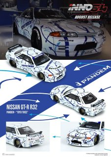 <img class='new_mark_img1' src='https://img.shop-pro.jp/img/new/icons1.gif' style='border:none;display:inline;margin:0px;padding:0px;width:auto;' />6月下旬以降予約 INNO 1/64 Nissan スカイライン GT-R R32 Rocket Bunny-Pandem