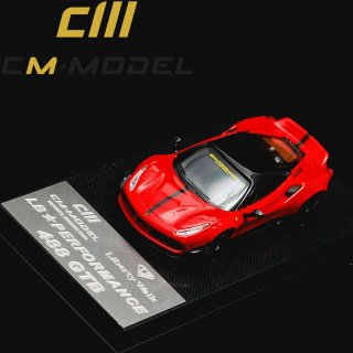 <img class='new_mark_img1' src='https://img.shop-pro.jp/img/new/icons1.gif' style='border:none;display:inline;margin:0px;padding:0px;width:auto;' />LBWK CM MODEL 1/64 LB Performance Ferrari 488 GTB Red Black