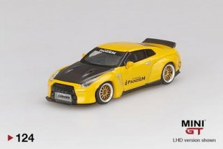<img class='new_mark_img1' src='https://img.shop-pro.jp/img/new/icons1.gif' style='border:none;display:inline;margin:0px;padding:0px;width:auto;' />9月予約 MINI GT 1/64 Pandem Nissan GT-R R35 Duck Tail Metallic Yellow 右ハンドル