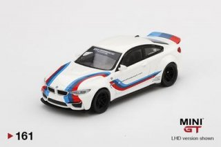 <img class='new_mark_img1' src='https://img.shop-pro.jp/img/new/icons1.gif' style='border:none;display:inline;margin:0px;padding:0px;width:auto;' />9月予約 MINI GT 1/64 LB★WORKS BMW M4 White W/ M Stripe  左ハンドル