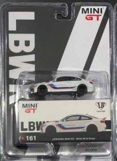 <img class='new_mark_img1' src='https://img.shop-pro.jp/img/new/icons1.gif' style='border:none;display:inline;margin:0px;padding:0px;width:auto;' />9月予約 MINI GT 1/64 LB★WORKS BMW M4 White W/ M Stripe LBWKブリスター仕様(定形外郵便可)