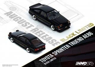 INNO 1/64 TOYOTA SPRINTER TRUENO AE86 Black Limited トレノ 86 ハチロク