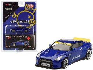 <img class='new_mark_img1' src='https://img.shop-pro.jp/img/new/icons1.gif' style='border:none;display:inline;margin:0px;padding:0px;width:auto;' />8月入荷 MIJO限定 MINI GT 1/64 Pandem Nissan GT-R R35  ダックテイル  ヴェロシティブルー(左ハンドル)