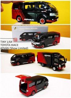 9月入荷予約 TINY トヨタ ハイエース ADVAN 香港ショー限定モデル