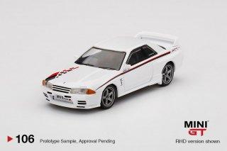 <img class='new_mark_img1' src='https://img.shop-pro.jp/img/new/icons1.gif' style='border:none;display:inline;margin:0px;padding:0px;width:auto;' />10月予約 MINI GT 1/64 Nissan GT-R R32 Nismo S-Tune White 右ハンドル(RHD)