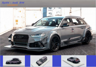 hpi64 1/64  Audi RS6 grey with Roofbox