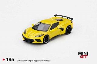 <img class='new_mark_img1' src='https://img.shop-pro.jp/img/new/icons1.gif' style='border:none;display:inline;margin:0px;padding:0px;width:auto;' />MINI GT 1/64 Chevrolet Corvette Stingray 2020 Accelerate Yellow   LHD(左ハンドル)