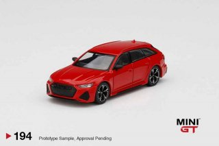 <img class='new_mark_img1' src='https://img.shop-pro.jp/img/new/icons1.gif' style='border:none;display:inline;margin:0px;padding:0px;width:auto;' />MINI GT 1/64 AUDI RS6 AVANT Carbon Black Edition Tango Red LHD(左ハンドル)