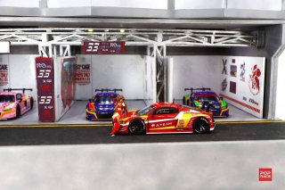<img class='new_mark_img1' src='https://img.shop-pro.jp/img/new/icons1.gif' style='border:none;display:inline;margin:0px;padding:0px;width:auto;' />POPRACE 1/64 Audi R8 LMS EVA RT Production Model Type-02 X Works アスカ レースクィーン フィギュア付き