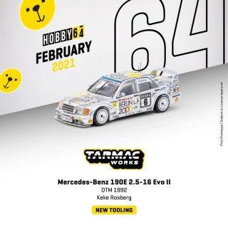 5月入荷 Tarmac Works 1/64 Mercedes-Benz 190 E 2.5-16 Evo II DTM 1992 Keke Rosberg