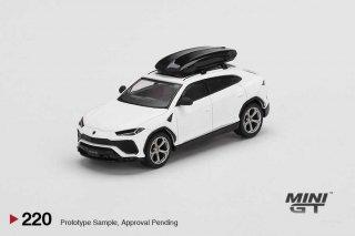 <img class='new_mark_img1' src='https://img.shop-pro.jp/img/new/icons1.gif' style='border:none;display:inline;margin:0px;padding:0px;width:auto;' />MINI GT 1/64 Lamborghini Urus Bianco Monocerus Matt w/ Roof Box 左ハンドル(LHD)