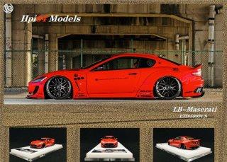 2月以降予約 hpi64 1/64 LB-Works Maserati GT Red  限定599個