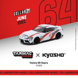 <img class='new_mark_img1' src='https://img.shop-pro.jp/img/new/icons12.gif' style='border:none;display:inline;margin:0px;padding:0px;width:auto;' />Tarmac Works 1/64 Toyota GR Supra CUSCO  Collaboration with Kyosho