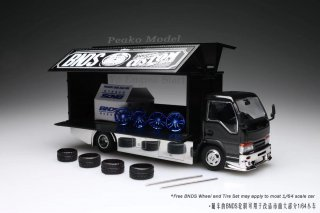<img class='new_mark_img1' src='https://img.shop-pro.jp/img/new/icons1.gif' style='border:none;display:inline;margin:0px;padding:0px;width:auto;' />6月以降予約 Peako64 1/64 いすゞ エフル Y.E.S. Semi Wide Wng Custom Truck, Black