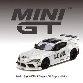 <img class='new_mark_img1' src='https://img.shop-pro.jp/img/new/icons1.gif' style='border:none;display:inline;margin:0px;padding:0px;width:auto;' />7月以降予約 MINI GT 1/64 Toyota GR Supra White RHD(右ハンドル)LBWKブリスター仕様(定形外郵便選択可)