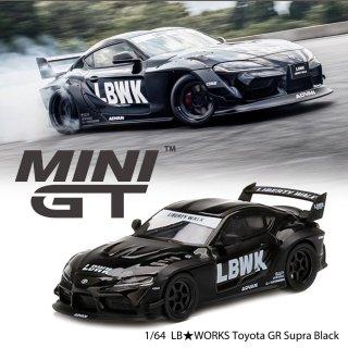 <img class='new_mark_img1' src='https://img.shop-pro.jp/img/new/icons1.gif' style='border:none;display:inline;margin:0px;padding:0px;width:auto;' />7月以降予約 MINI GT 1/64 LB Toyota GR Supra Glossy Black + Matt Black LBWKブリスター仕様(定形外郵便選択可)
