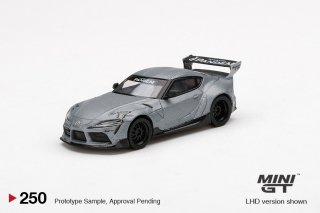 <img class='new_mark_img1' src='https://img.shop-pro.jp/img/new/icons1.gif' style='border:none;display:inline;margin:0px;padding:0px;width:auto;' />9月以降予約 MINI GT 1/64 Pandem Toyota GR Supra V1.0 Matte Grey  左ハンドル(LHD)