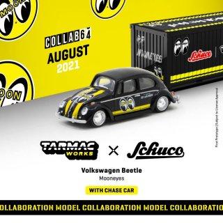 10月予約 Tarmac Works × schuco 1/64 Volkswagen VW Beetle Mooneyes suitcases コンテナケース付