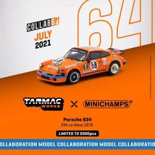 9月予約 Tarmac Works × MINICHAMPS 1/64 Porsche 934 24h Le Mans 1978 #68